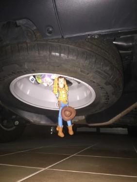 ウッディを車に着けてみた